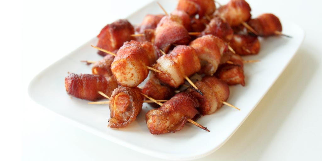 Spicy Bacon-Wrapped Chicken Bites Recipe