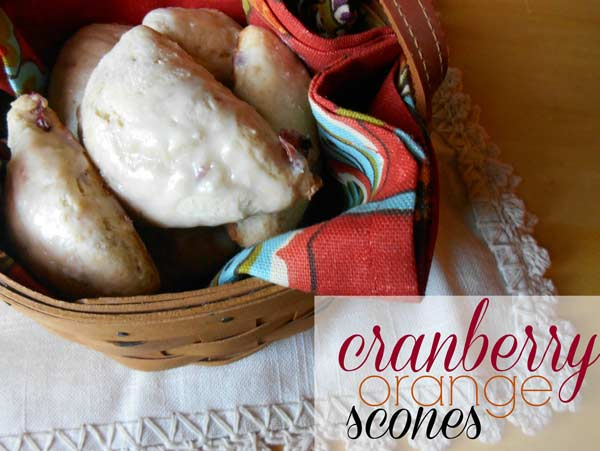 Image for Cranberry Orange Scones  Recipe Cranberry Orange Scones  Recipe