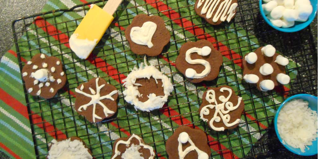 Image for Easy Chocolate Snowflake Cookies Recipe Easy Chocolate Snowflake Cookies Recipe