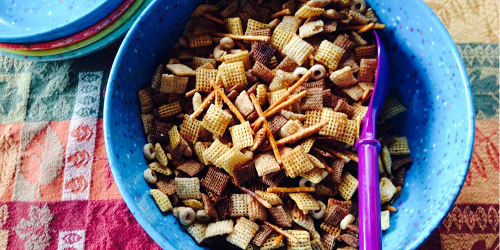 Cheery Chex Party Mix Recipe