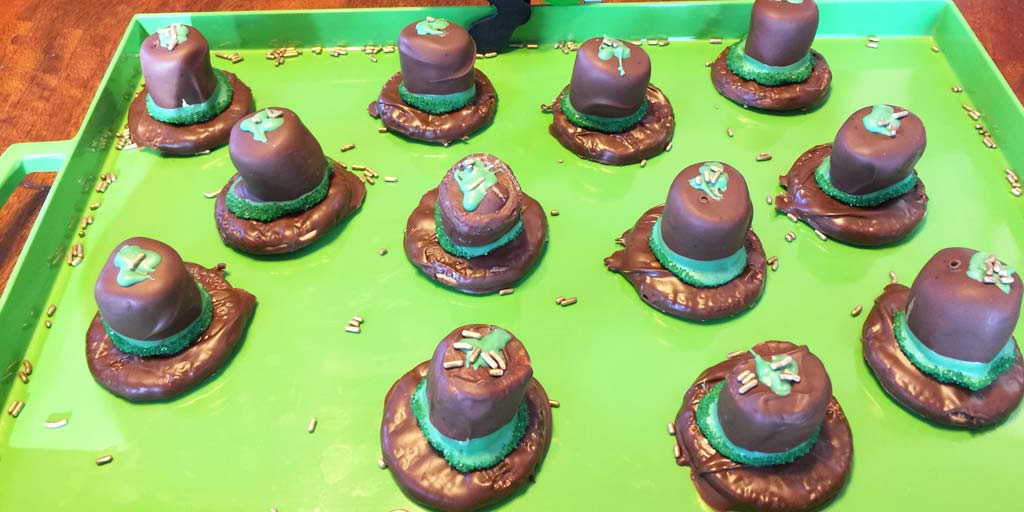 Image for St. Patrick's Day Hats Recipe St. Patrick's Day Hats Recipe