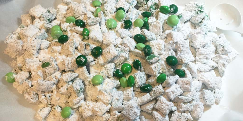 Image for St. Particks Day Puppy Chow Recipe St. Particks Day Puppy Chow Recipe