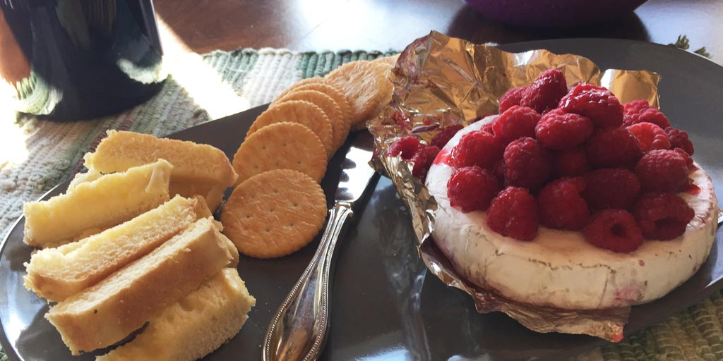 Barbecued Brie Cheese with Fruit