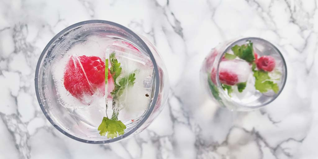 Image for Fruit and Herb Infused Ice Cubes Fruit and Herb Infused Ice Cubes