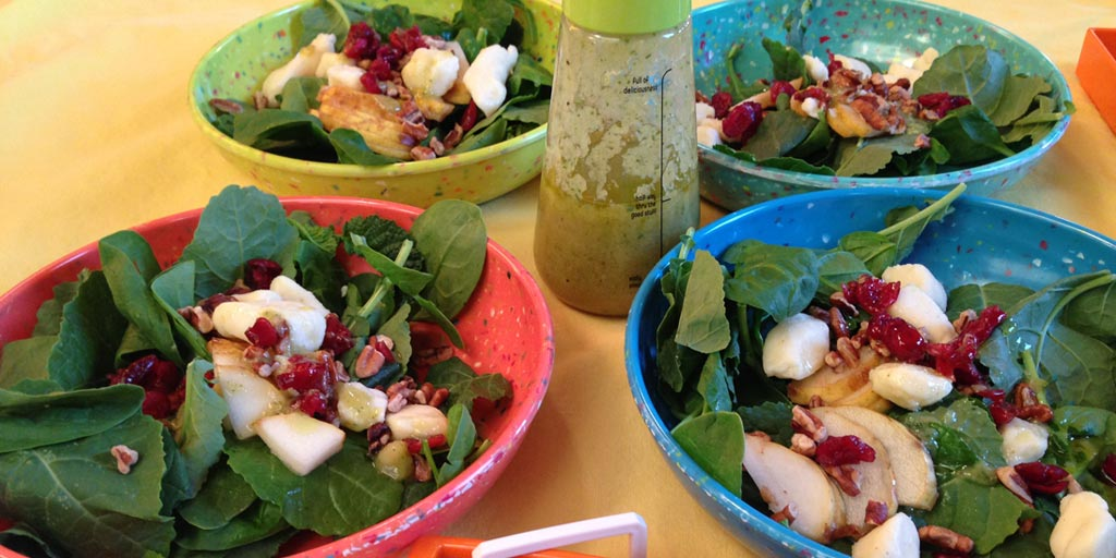 Image for Spinach Kale Pear Salad Recipe Spinach Kale Pear Salad Recipe