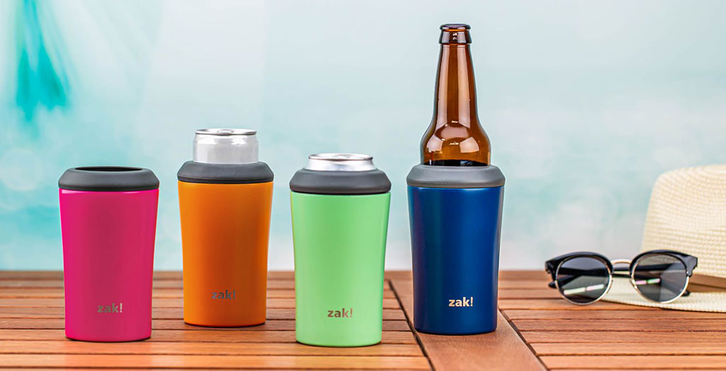 stainless steel vacuum insulated can koozies image