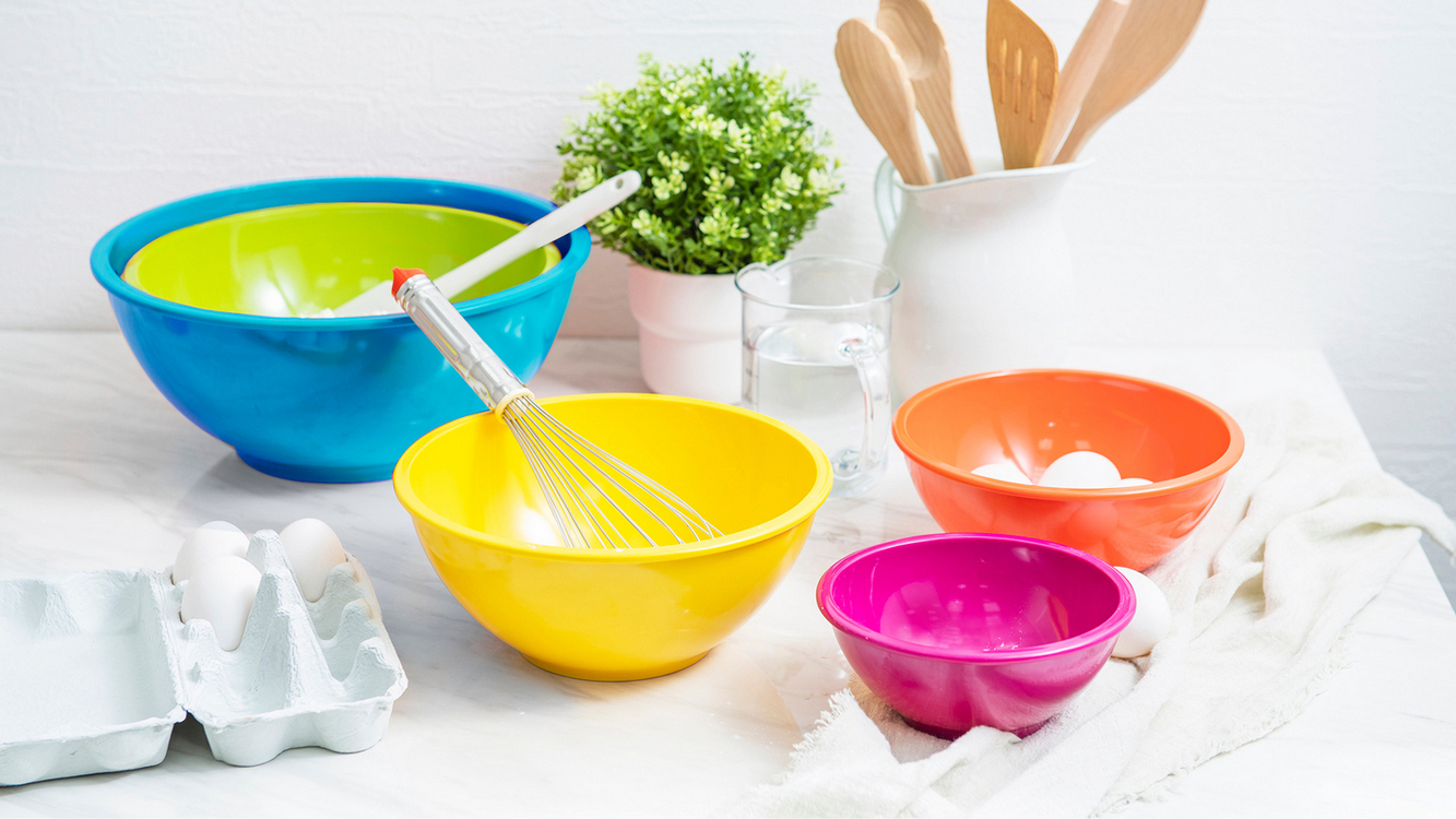 bring color to the kitchen mixing bowl sets
