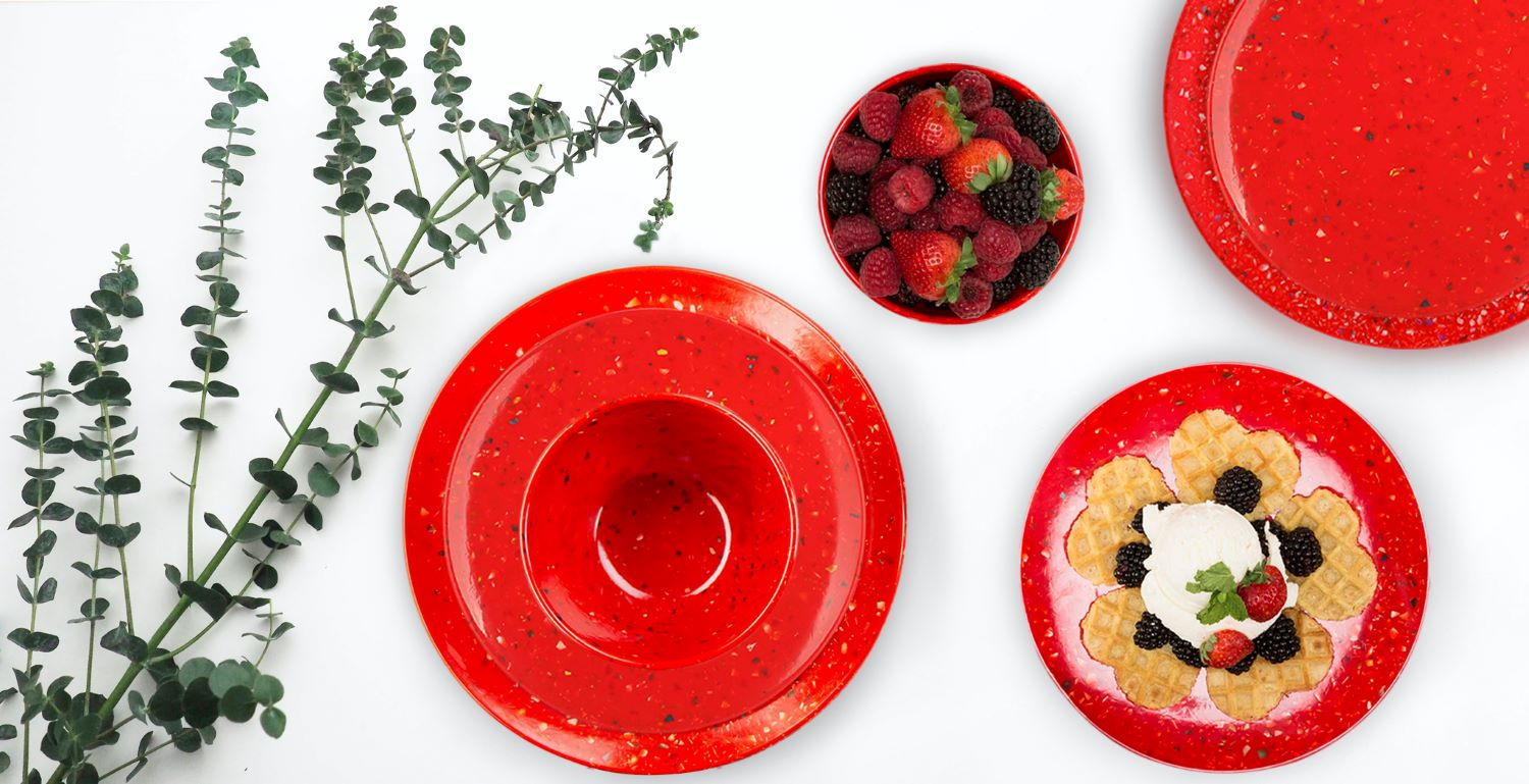 celebrate with confetti colorful dinnerware