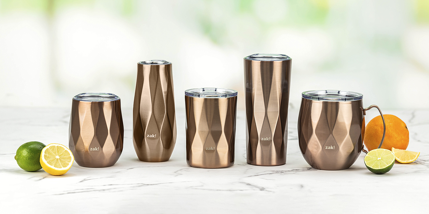 rose gold barware from the fractal collection